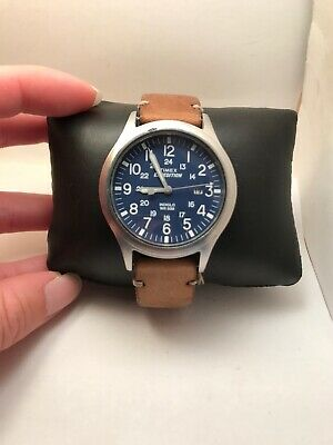 """Timex TW4B01800, Men's """"Expedition"""" Brown Leather Watch, Scout PARTS/REPAIR-H49"""