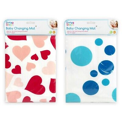 First Steps Baby Changing Mat 67Cm X 47Cm Pink Blue Nappy Mat Fold Away Travel