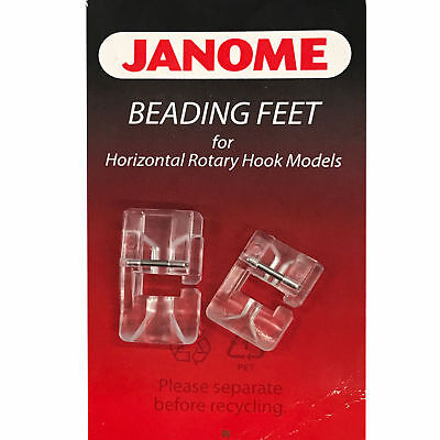 Janome Beading Foot Set (2) For  Sewing Machines With Drop-In Bobbins