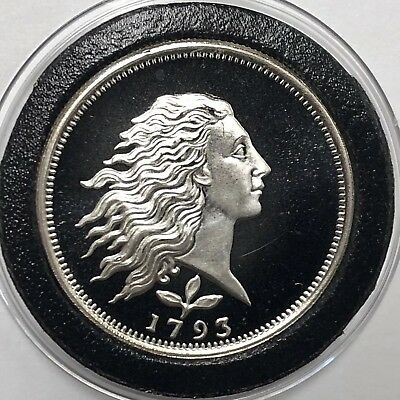 1793 Flowing Hair Proof Coin 1/2 Troy Oz .999 Fine Silver Round Collectible 999