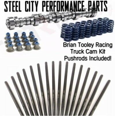 NEW V2 BRIAN Tooley Racing Stage 1 LS 4 8/5 3/6 0/6 2 Truck Cam Kit &  Pushrods