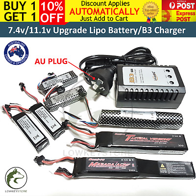 11.1v/7.4v Lipo Battery B3 Balance Charger Gel Ball Blaster Jinming M4A1 Upgrade