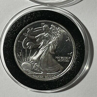 Walking Liberty Great America Mint 1/2 Troy Oz .999 Fine Silver Round Coin Medal