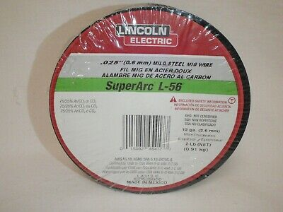 LINCOLN Electric SuperArc L-56  Mild Steel MIG Welding Wire 2 lb Roll 0.025