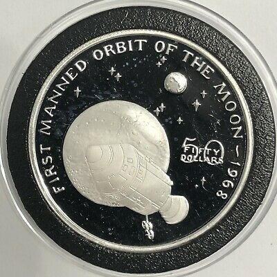 First Manned Orbit Of The Moon 1 Troy Oz .999 Fine Silver Coin Collectible Round