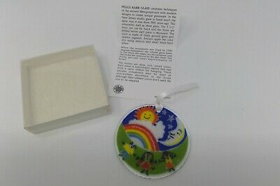 Peggy Karr Signed Fused Art Glass Ornament Sun Catcher Box Circle of Hope