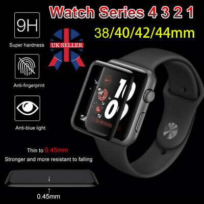 3D Full Cover Tempered Glass Screen Protector For Apple Watch Series 38 42 44mm