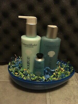 Crabtree & Evelyn LaSource Easter Basket Body Lotion, Shower Gel & Hand Therapy