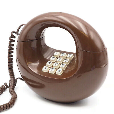 1970's Vintage Brown Donut Western Electric Push Button Touch Tone Phone