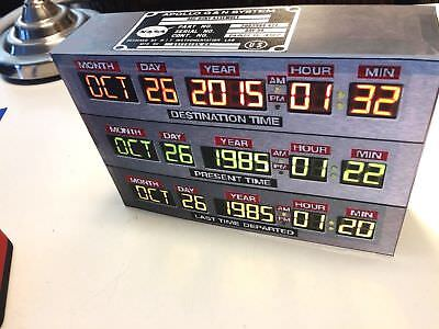 Back to the Future time circuits star prop card trek model