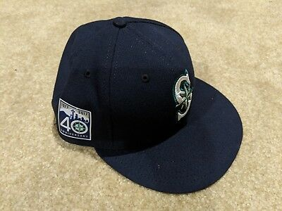676ed8640ff34 Jarrod Dyson Opening Day Game Used 40th Anniversary Cap Hat Seattle  Mariners!