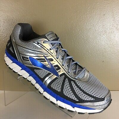 87e58bbd270 Brooks Mens Size 12 Wide 2E Beast 16 Silver Blue Athletic Running Shoes   Mint