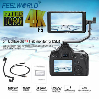 Feelworld F5 5inch IPS Screen HD 1920x1080 Camera HDMI Monitor for DSLR Cameras