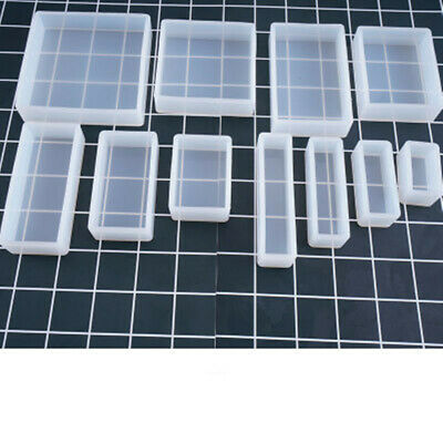 DIY Large Cube Cuboid Silicone Mold Mould For Epoxy Resin Casting Jewelry