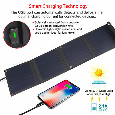 Portable Solar Charger Panel Lightweight Camping 14w Phones, Pad, Camera tablet