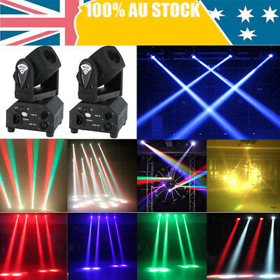 2Pcs 50W Mini Moving Head RGBW Stage Light Beam Spot 11/13CH DMX Sound Control