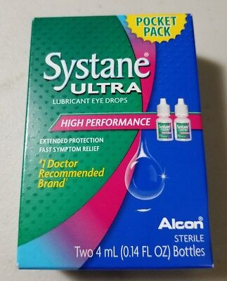Systane ultra lubricant eye drops Two 4 mL Bottles