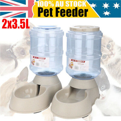 3.5L Water Feeder Automatic Water Food Dispenser Dish Bowl for Pet Dog Cat Puppy