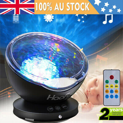Baby Cot Ocean Wave LED Projector Night Light Relaxing Music Lamp w/Remote
