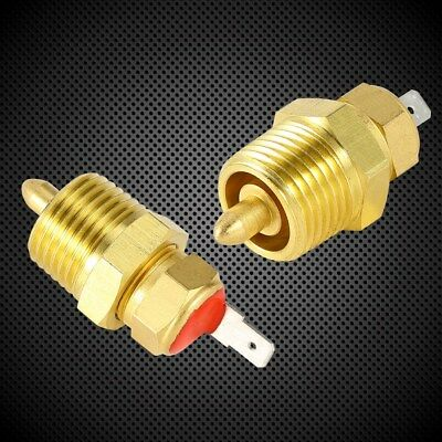 """Aluminum Electric Engine Cooling Fan Thermostat Temperature Switch 3/8"""" Gold"""