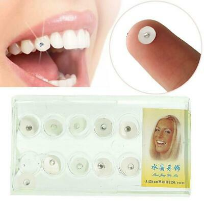 10Pcs Dental Oral Teeth Gems Crystal Tooth Ornaments Jewelry Clear Transparent