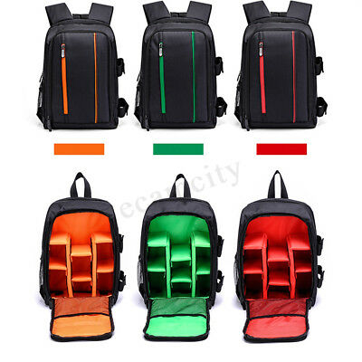 Waterproof Camera Backpack Travel Shoulder DSLR Bag With Rain Cover For Canon