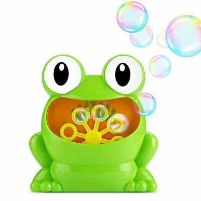 US Machine Big Frogs Automatic Bubble Maker Blower Music Bath Toy for Baby A2