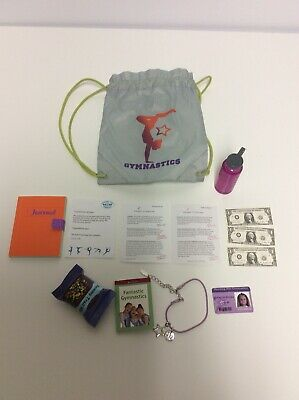 American Girl Doll Retired GOTY McKenna's Accessories Gym Bag, Necklace, Bottle