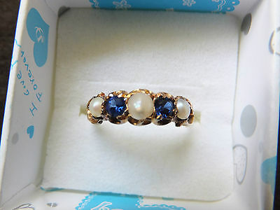 Antique Georgian 18ct Gold Pearl & Spinel Ring Engraved - Reduced Price