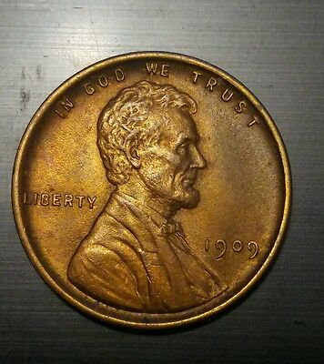 1909 RD #3  Lincoln Wheat Cent Penny Coin EXCELLENT condition (see photos)