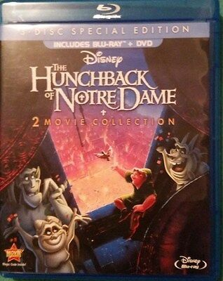 """the Hunchback Of Notre Dame"" 2 Movie Collection (Blu-Ray/dvd-2013, 3-Disc Set)"