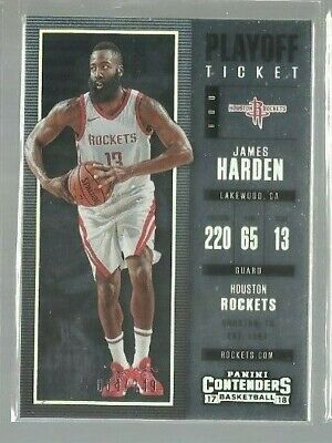 2017-18 Panini Contenders Playoff Ticket #77 James Harden 064/249 (ref52547)