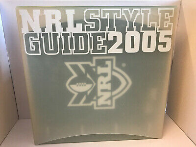 2005 Nrl Style Guide Complete Folder Coloured Pages Cds Included Rugby League