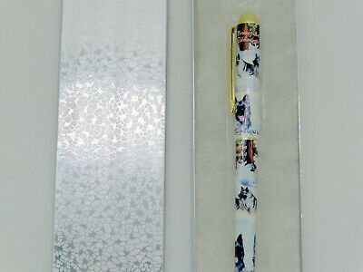 Norwegian Elkhound Dog Roller Ball Pen Silver Gift Box by Ruth Maystead Collies