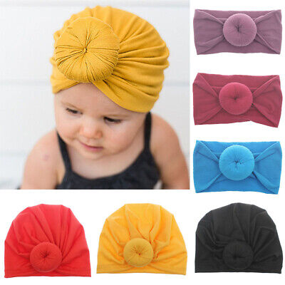 Baby Toddler Headband Knotted Bow Newborn Turban Knot Hair Band Hair Accessories