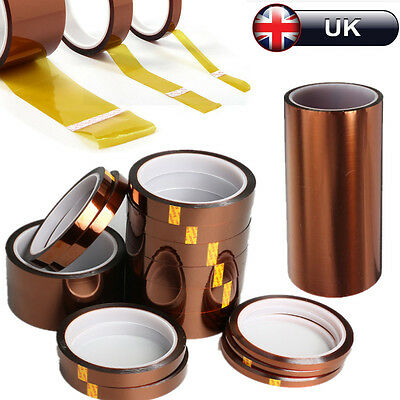 5-200mm 33m Kapton Tape High Temperature Heat Resistant Polyimide BGA 3D Printer