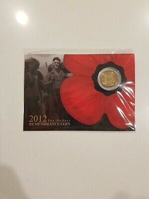 2012 Australia $2 Remembrance Day coin gold poppy RAM minted UNC