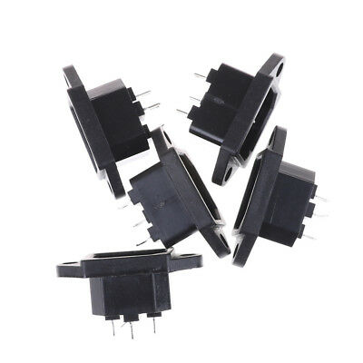 5Pcs 3P IEC 320 C14 Male Plug Panel Power Inlet Socket Connector AC 250V 10AOD