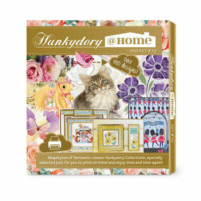 Hunkydory @ Home USB Key 10 - HDHUSB010 with FREE exclusive Teddy Key Ring