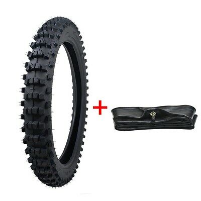 """2.75-17 70/100- 17"""" inch Front Tyre + inner Tube for PIT PRO Trail Dirt Bike new"""