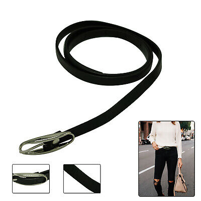 10mm Thin Shiny Black Ladies Waist Belt For Stylish Fashion Girls Party Events