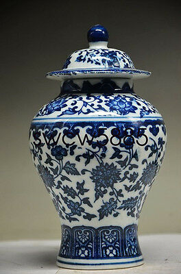 Exquisite Old Chinese Blue And White Porcelain Handmade Flower Storage Mry028