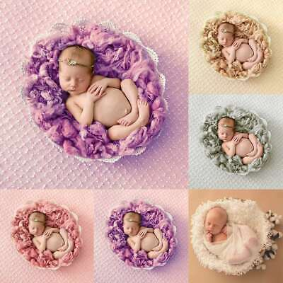 Photography Photo Props Soft Faux wool Basket Stuffer Blanket Rug Newborn Baby