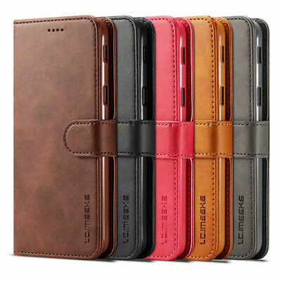 For Samsung Galaxy J4 J6 Plus 2018 Luxury Genuine Leather Flip Wallet Case Cover