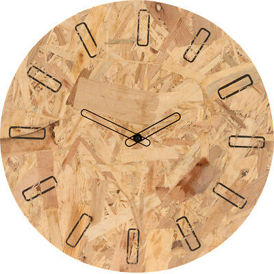 Large Ø 40 cm Wooden Wall Clock Decorative Indoor Office Home 12 Hour Display