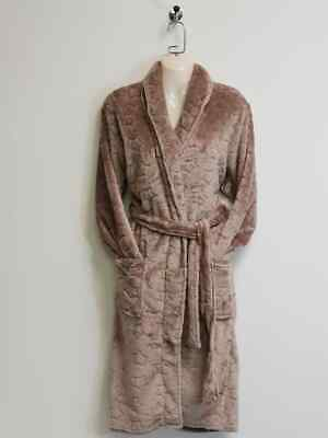 Ladies Dressing Gown Size 8 - 18 Thick Soft Bathrobe Fleece Warm PJ WH203 Brown