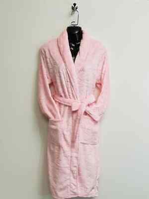 Women Dressing Gown Size 8 - 18 Thick Soft Bathrobe Fleece Night Warm WH203 Pink