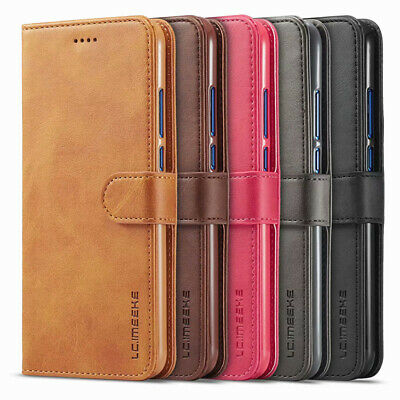 For Huawei P Smart 2019 P30 P20 Luxury Genuine Leather Flip Wallet Case Cover