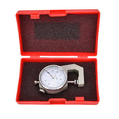 Thickness Measure Round Dial Gauge Gage Tester Leather Craft Pocket 0-10mmOD