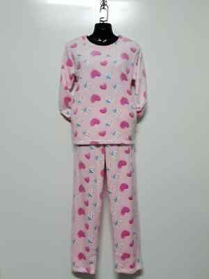 Ladies Pajamas PJ Size 8 - 18 Woman Heart Nightwear Set Sleepwear WH199 Pink